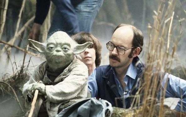 Frank Oz as Yoda in 1980.