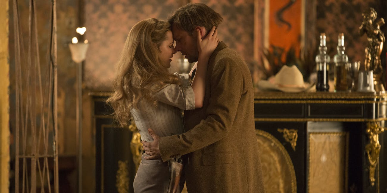 Dolores and William in 'Westworld'