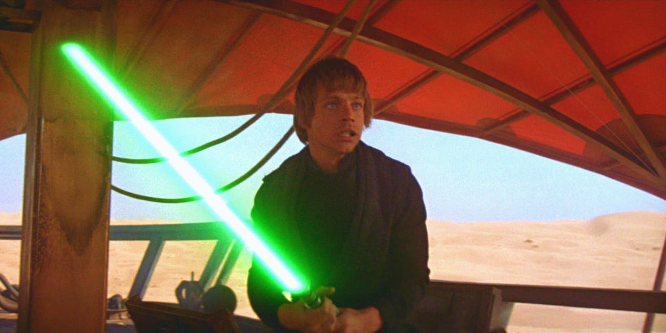 Luke Skywalker in 'Return of the Jedi'.