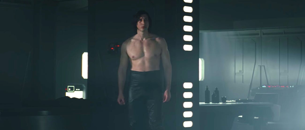 Kylo Ren shirtless.