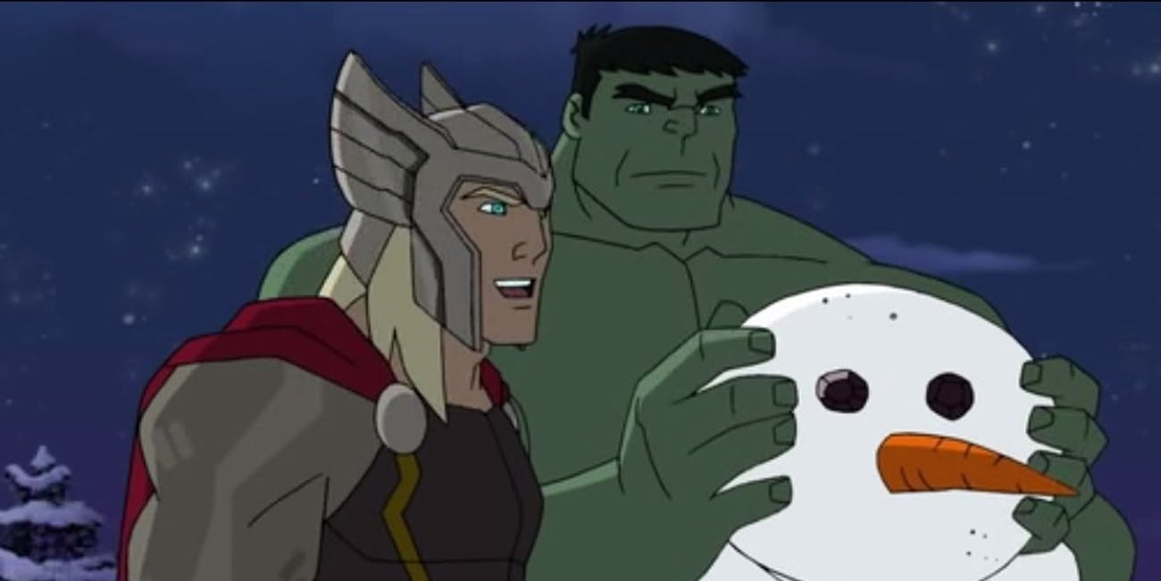 marvel movies avengers christmas santa cartoon