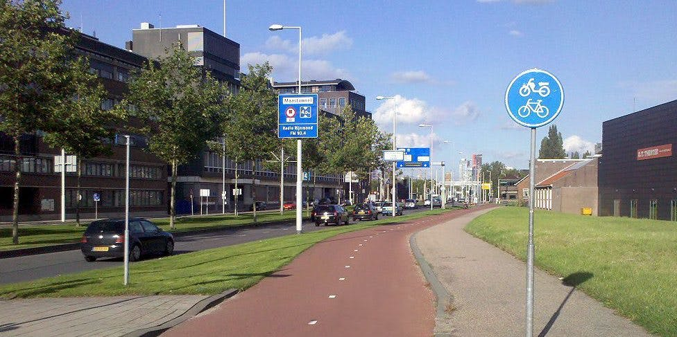 bike path Rotterdam the Netherlands Dutch design