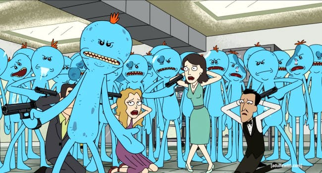 Despite every Meeseeks being identical when created, they somehow wind up with so much variation.