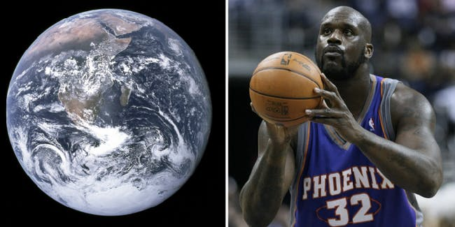 Science disproves Shaquille O'Neal's flat Earth theory.