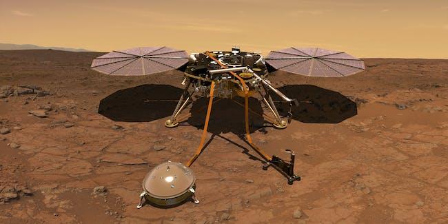 nasa insight lander mars surface
