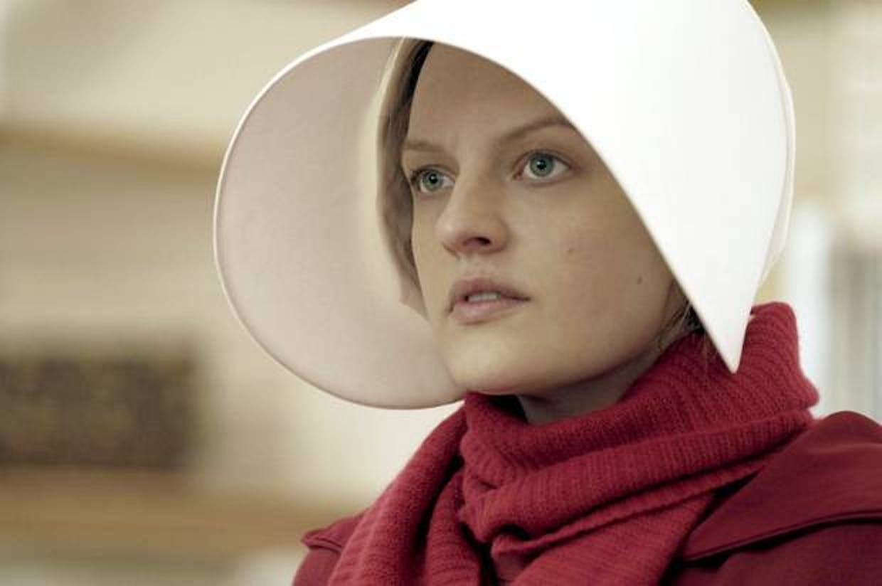 Elisabeth Moss as Offred or June in 'The HandmaidsTale'
