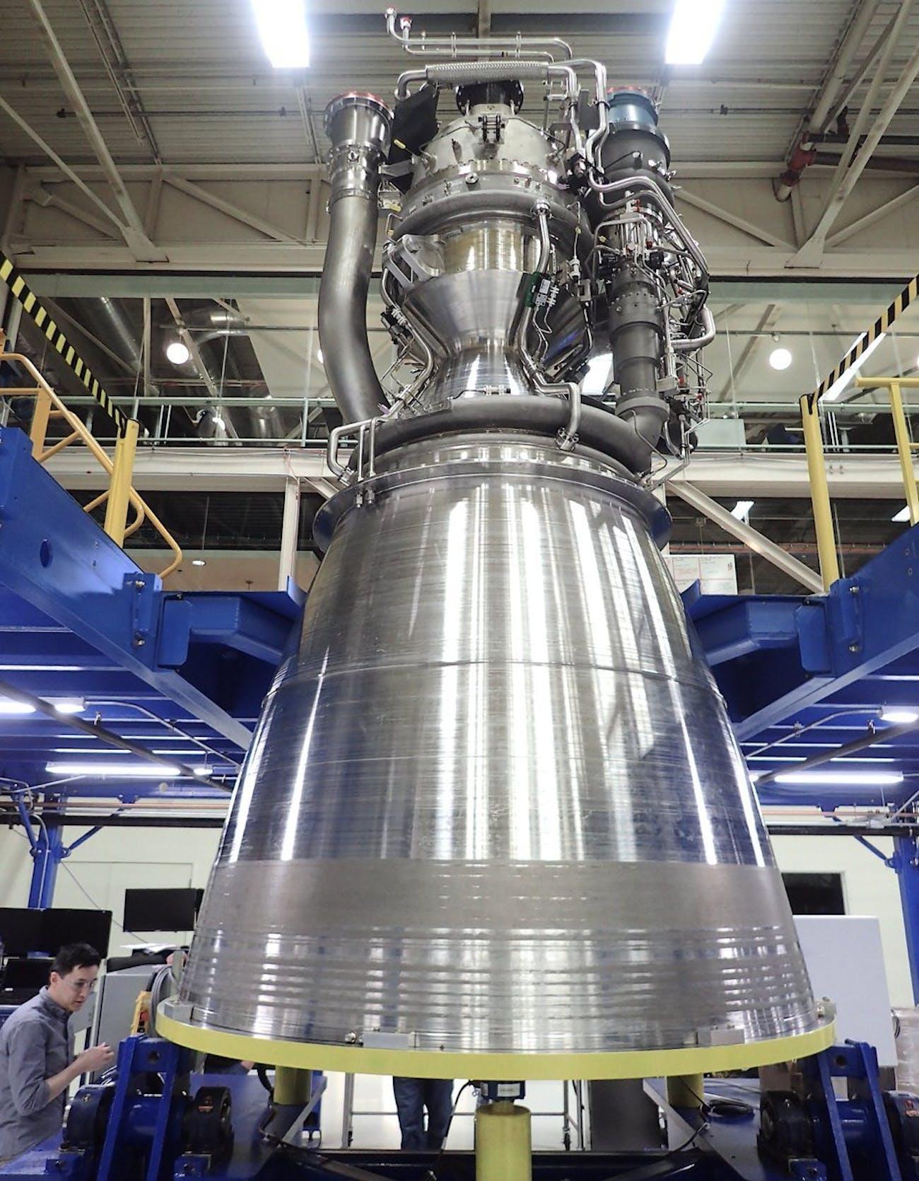 Blue Origin BE-4 rocket engine photo