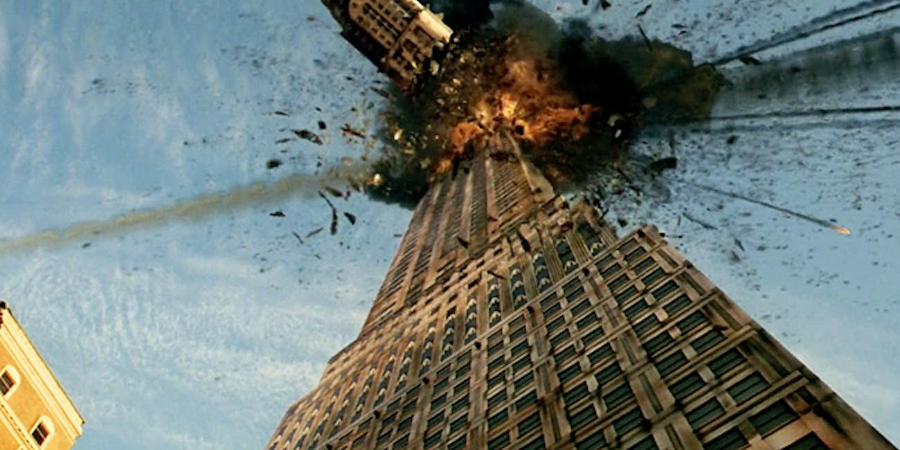 New York gets hit by a meteor shower in the 1998 movie 'Armageddon'