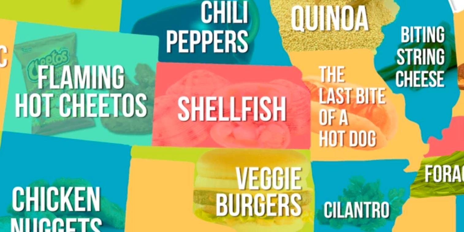 This Map Shows the Food Each State Hates the Most
