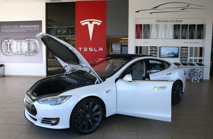 A Tesla Model S car on display in 2013 in California. The company has sold cars in Indiana for over three years.
