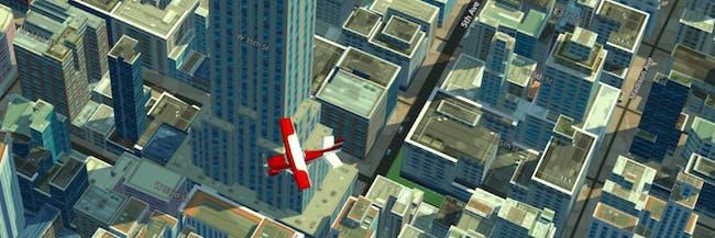 midtown manhattan 3d map plane empire state building WRLD eeGeo maps