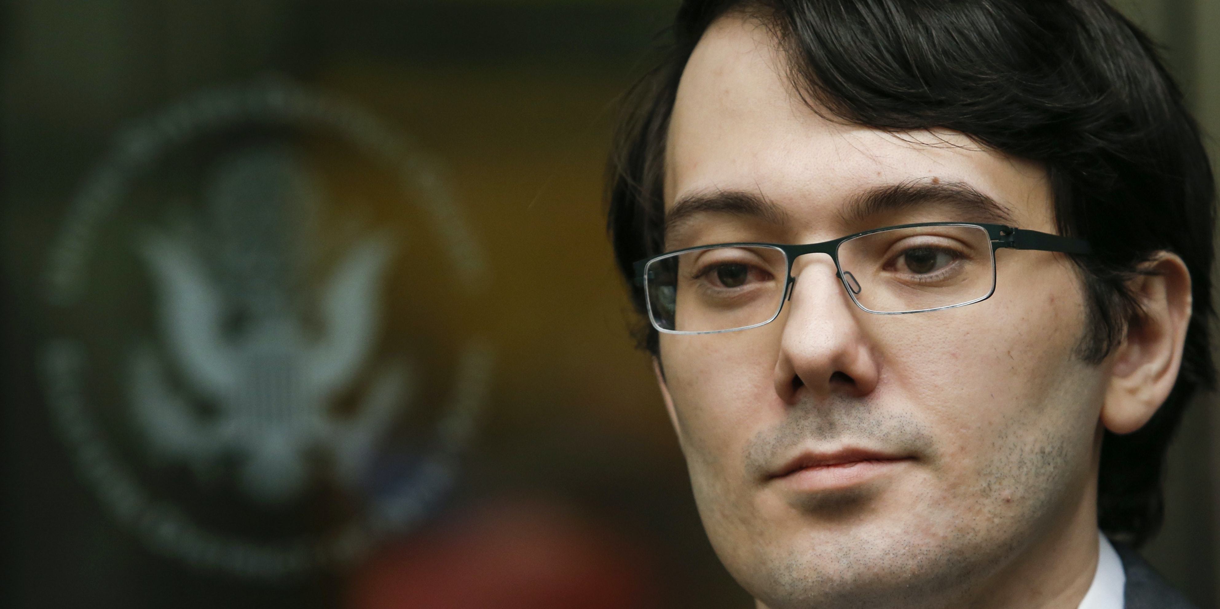 NEW YORK, NY - MAY 03: Martin Shkreli, former Chief Executive Officer of Turing Pharmaceuticals LLC, exits federal court  on May 3, 2016 in the Brooklyn borough of New York City. Shkreli appeared in U.S. District Court to face multiple fraud charges, including illegally siphoning money from one of his companies to pay off bad market bets made by another of his companies. (Photo by Eduardo Munoz Alvarez/Getty Images)