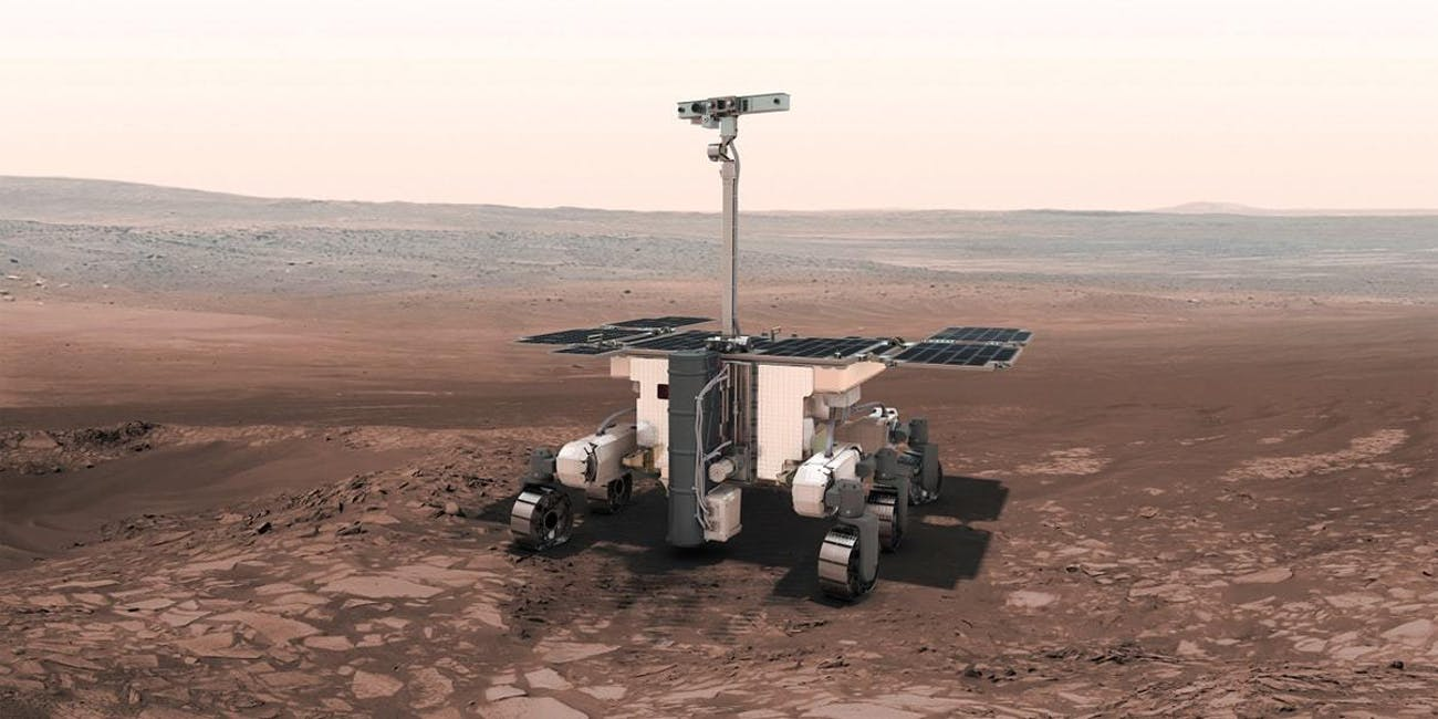Artist conception of the ExoMars rover.