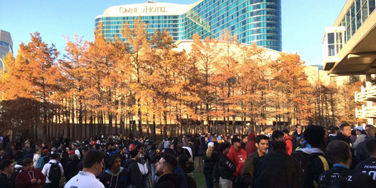 Kay Bailey Hutchison Convention Center is evacuated during CWL Dallas in the middle of a match.