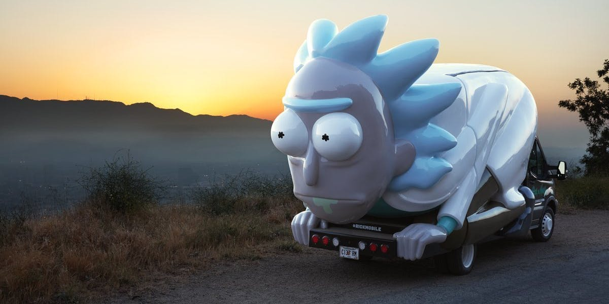 The Rickmobile is coming for you.