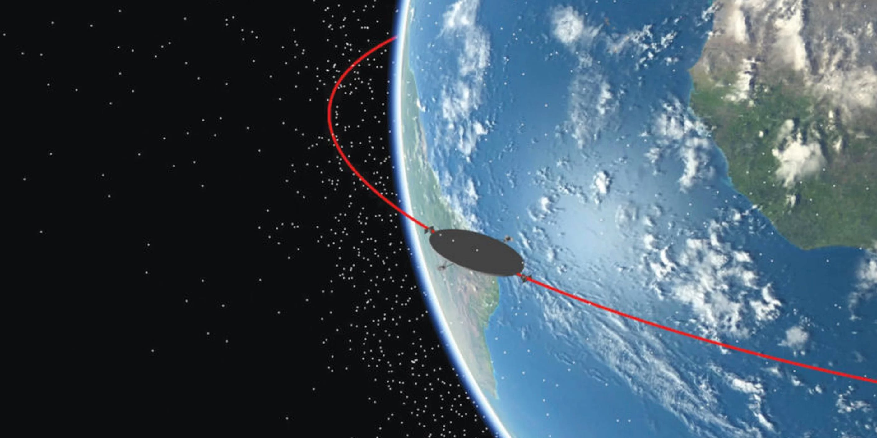 Launchspace Technologies has proposed this football field sized platform that would orbit Earth at the equator and collect debris as it goes. As a bonus, it would be able to detect and avoid satellites.