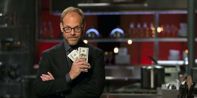 Alton Brown host of Cutthroat Kitchen for Food Network