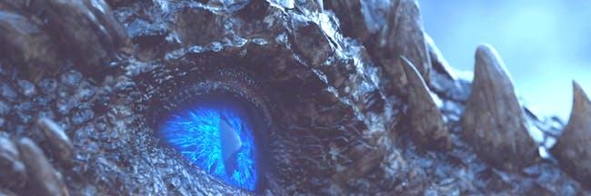 Daenerys Targaryen, Tyrion Lannister, and dragons Rhaegal and Viserion