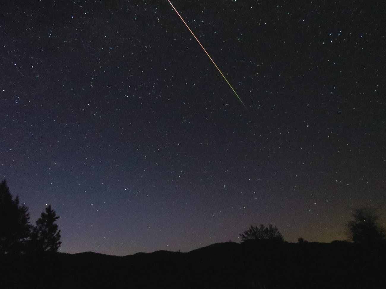 Long trails from the Eta Aquariid meteor shower