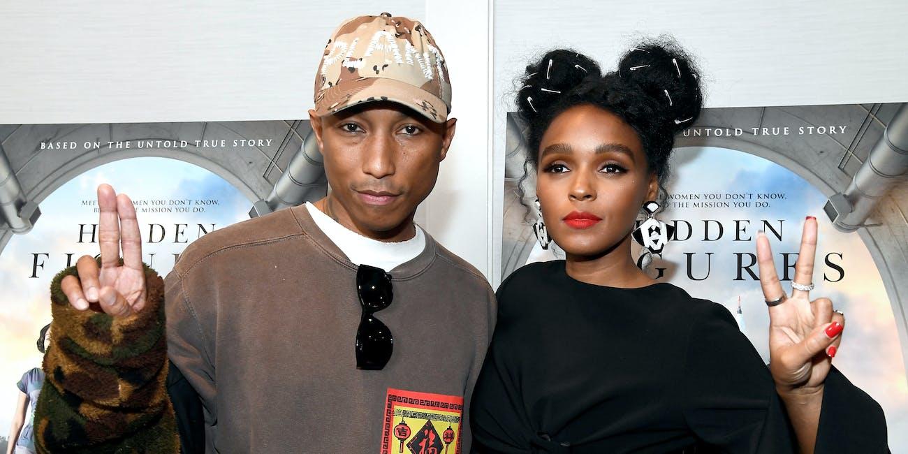 Janelle Monae and Pharrell Williams