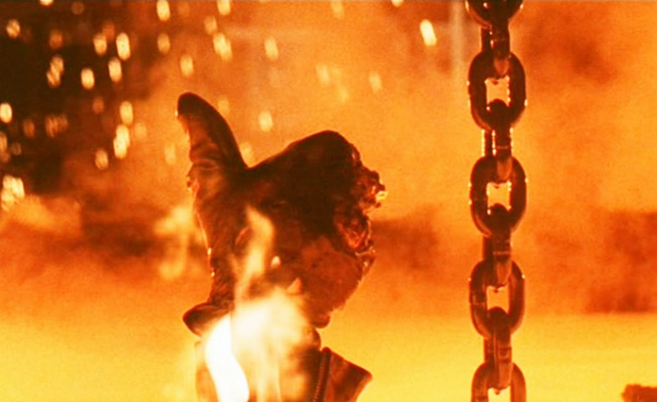 The T-800 gives a thumbs-up in 'Terminator 2: Judgement Day'