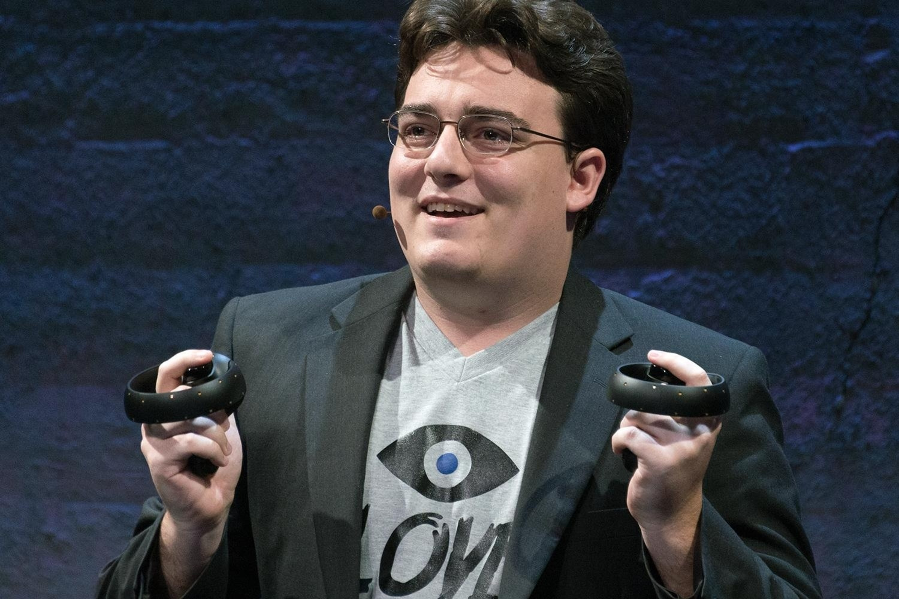 Palmer Luckey at a previous Oculus event.