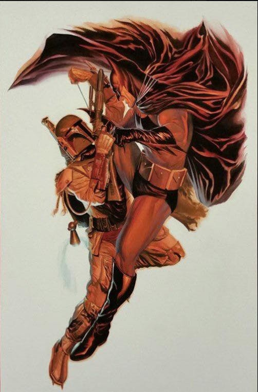 The new Alex Ross painting in question.