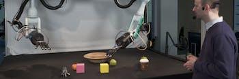 robot ai apple basket machine learning block cube grasp