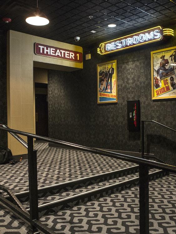 Alamo Drafthouse Brooklyn theater hallway