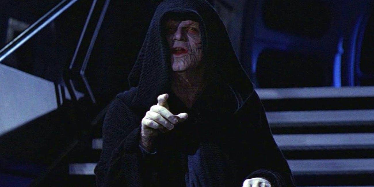 Emperor Palpatine in 'Return of the Jedi'