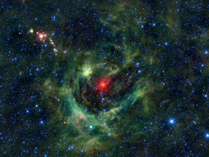 Sh2-205 is a cloudy nebula in the Camel constellation.