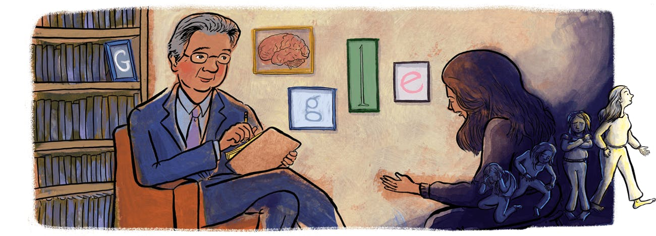 The Google Doodle honoring Dr. Herbert Kleber on October, 2019.