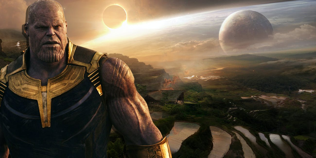 thanos' farm is on Titan