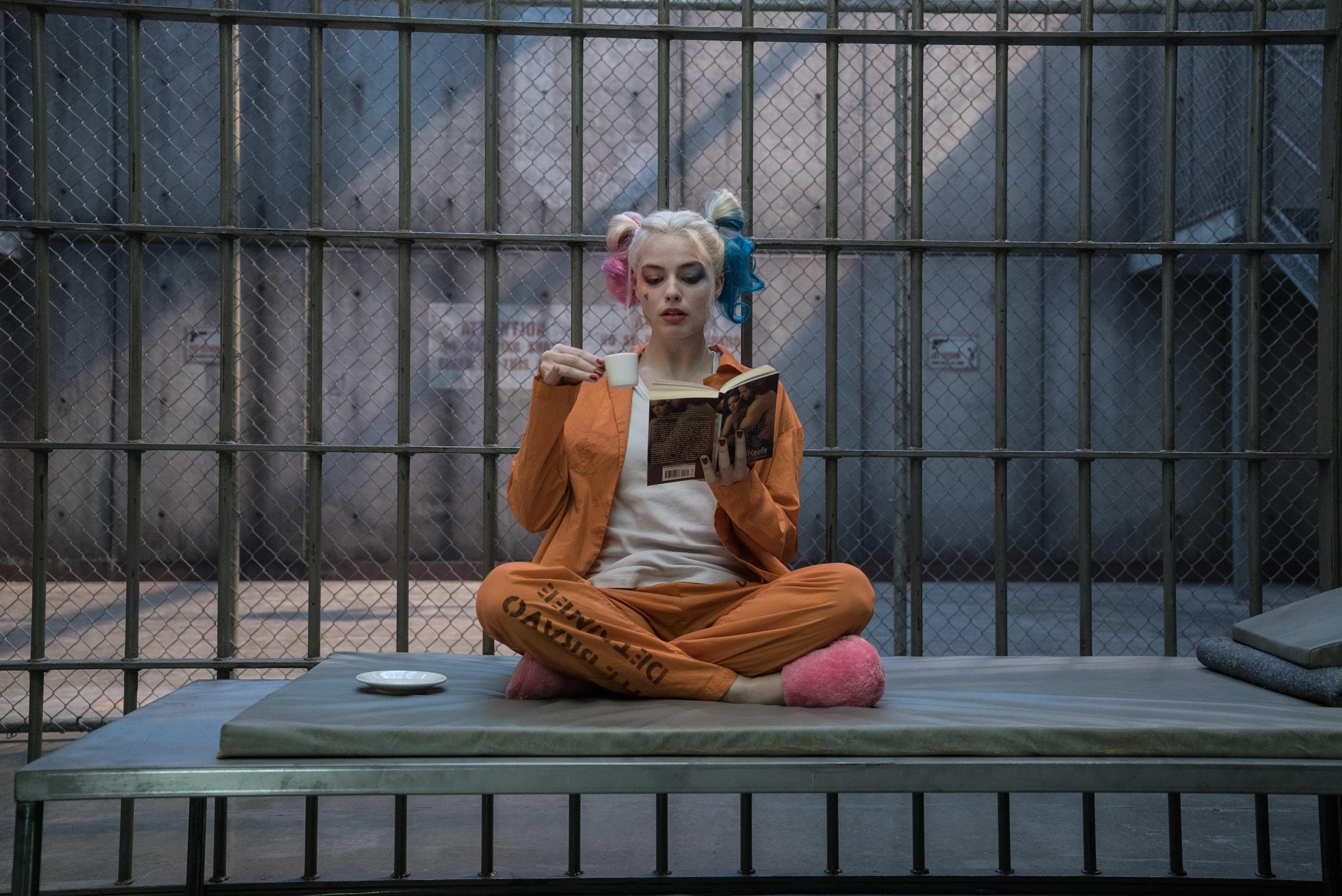 Harley Quinn (Margot Robbie) incarcerated at Belle Reve.