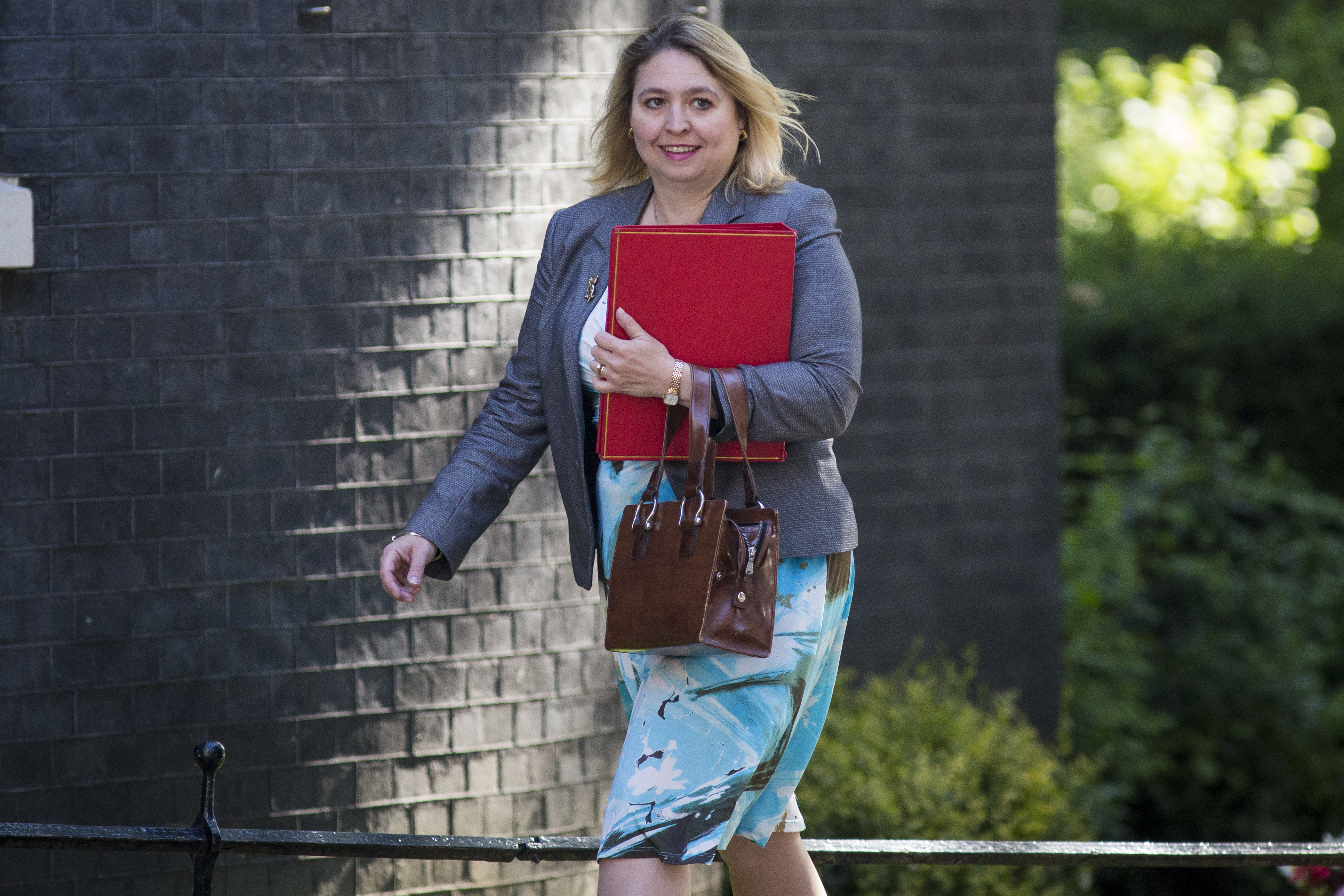 Secretary of State for Culture, Media and Sport Karen Bradley arrives at Downing Street for the weekly cabinet meeting on July 19, 2016 in London, England.