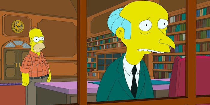 Even Mr. Burns saw this one coming decades before it happened.