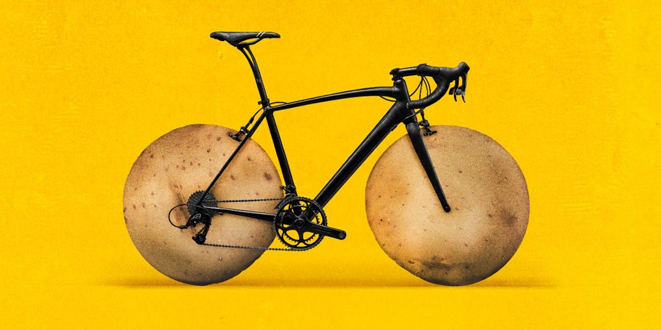 cycling, gels, potatoes