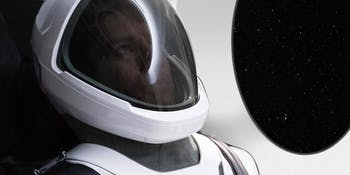 SpaceX astronaut space suit ready for takeoff.