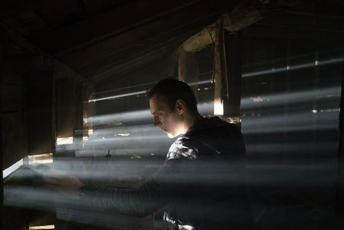 """James Allen McCune, as """"James"""" in 'Blair Witch.' McCune says shooting in the house wasn't dangerous, but it felt like it. """"It had a smell and a feel in it that I can't really articulate. It was incredible, absolutely incredible."""""""