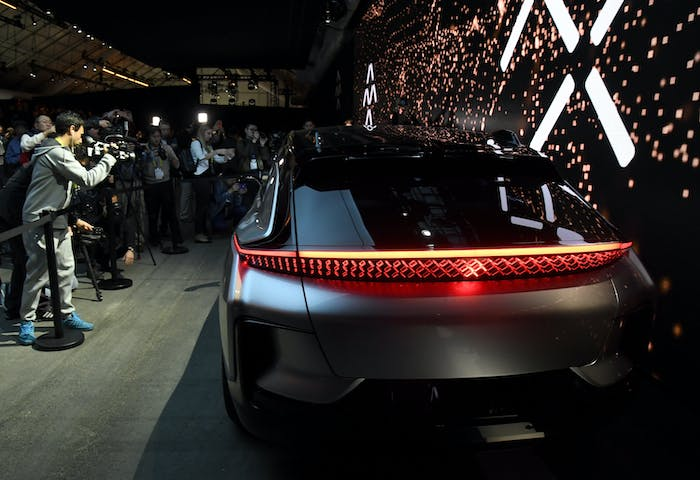 A Faraday Future car in better times, apparently.