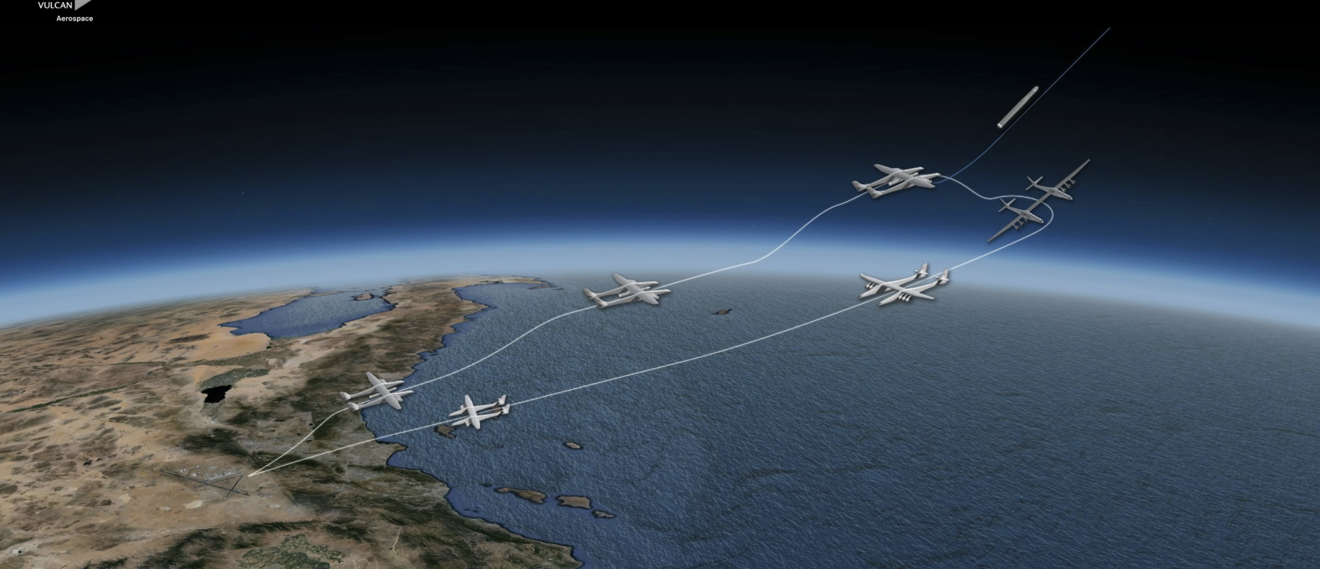 Diagram of the Stratolaunch's flight path.