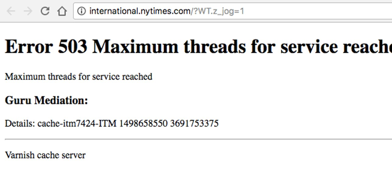 Multiple Sites including the NYT, Reddit, and the Guardian are all down from an apparent DDOS attack right now.