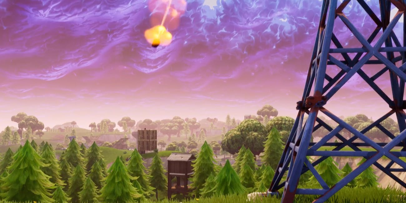 fortnite meteor - fortnite falling code