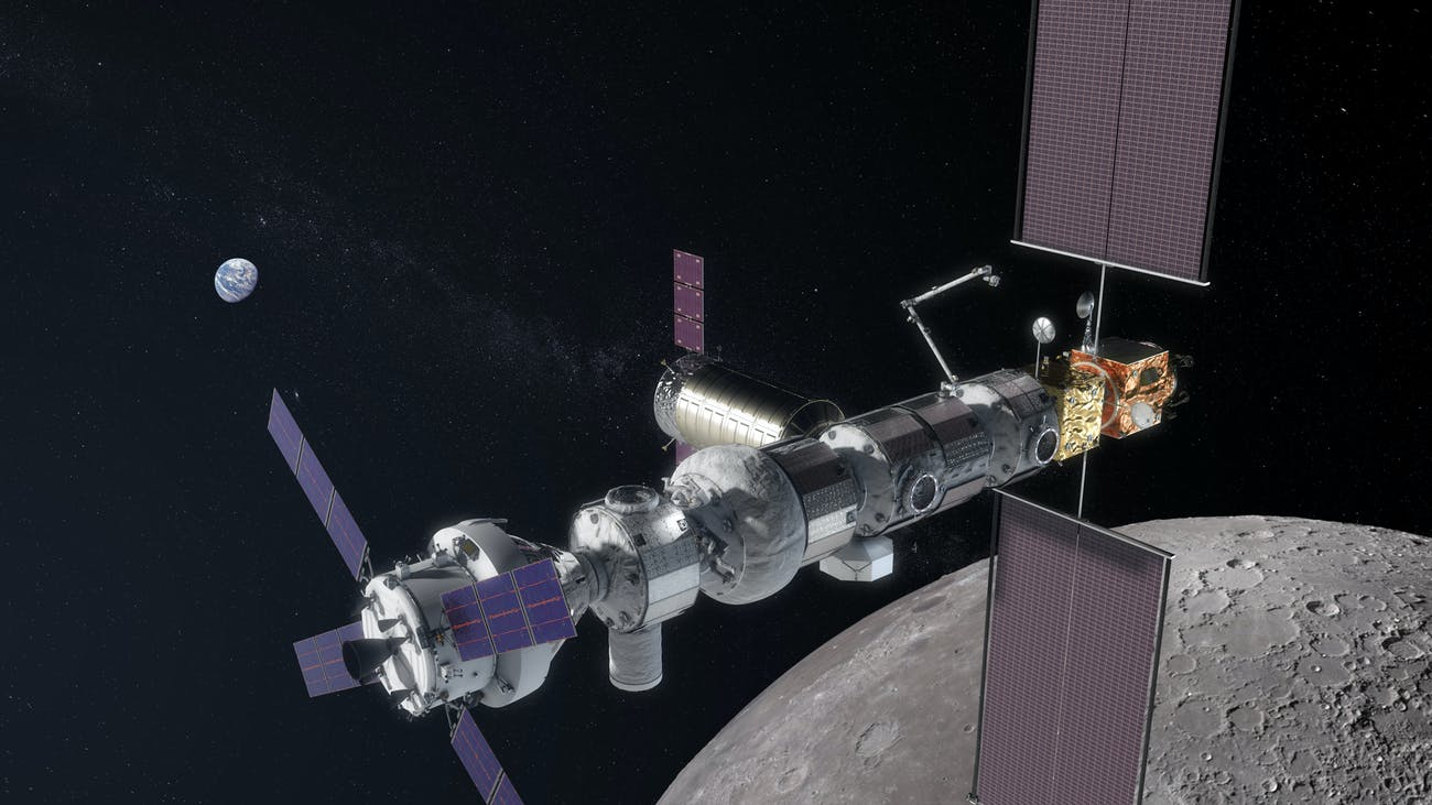 The updated configuration of the Lunar Orbital Platform-Gateway, as found on the HEOMD presentation of September 6, 2018.