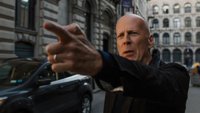 That's not the only gun Bruce Willis gets in the movie.