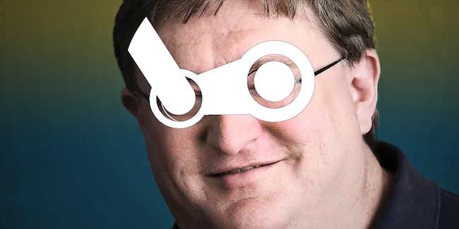 Gabe Newell Steam photoshop