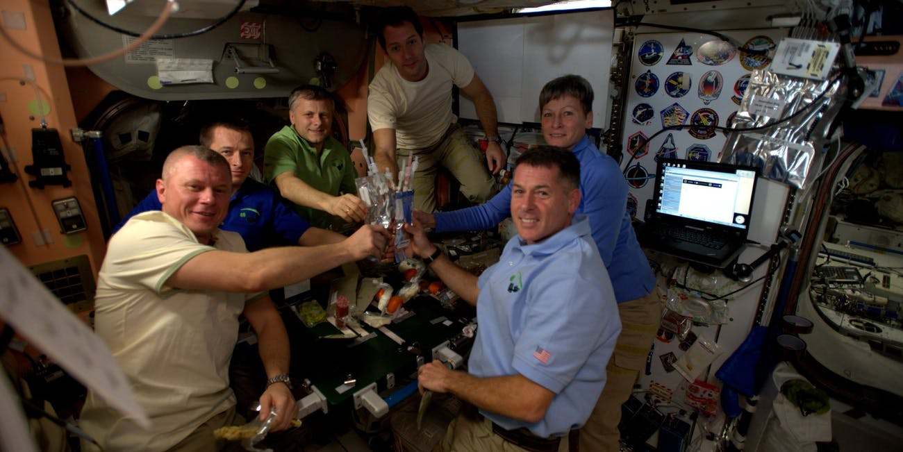 Thanksgiving on board the ISS.
