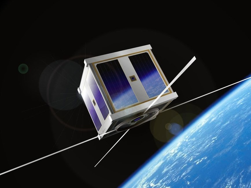 """A tiny """"cubesat"""" -- this could fit in your hand -- is how companies may affordably get access to space communications."""