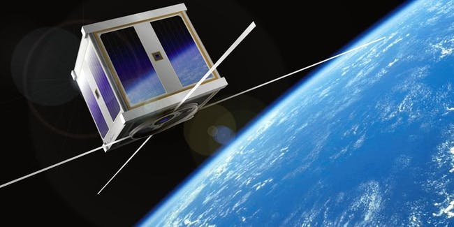 "A tiny ""cubesat"" -- this could fit in your hand -- is how companies may affordably get access to space communications."