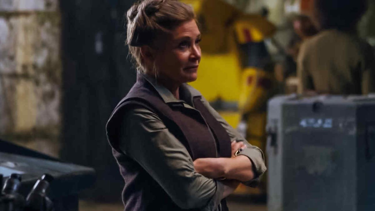 Carrie Fisher as General Leia in The Force Awakens